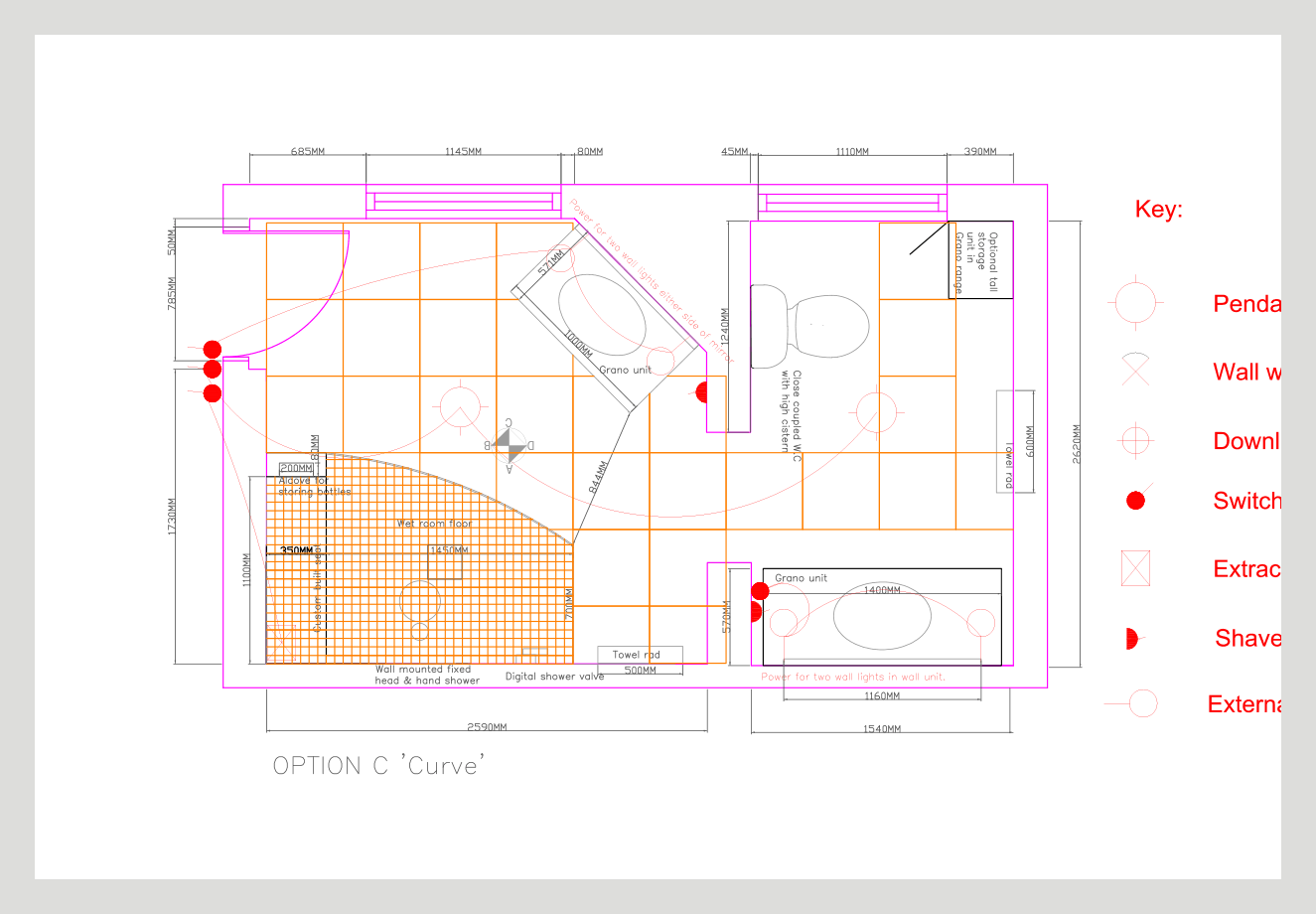 bathroom cad design